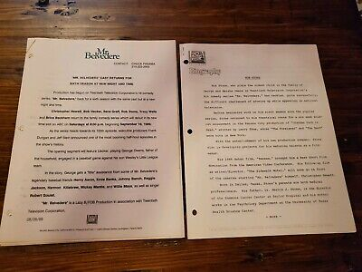 Mr Belvedere 20th Century Fox Production Notes/pictures