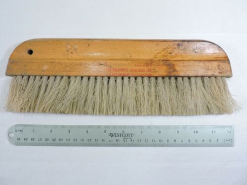 "12"" Wall Paper Hanging, Dusting Brush,Soft Bristle, Wood Handle, Made In USA"