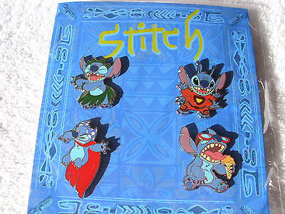 Disney * STITCH * 4 Pin Booster Set * New In Pack