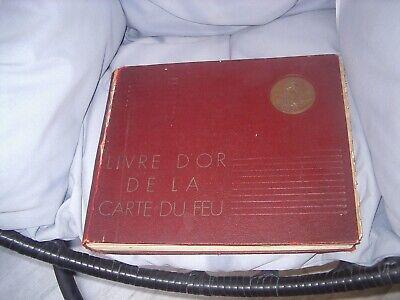 ancien livre d'or de la carte de feu ww1 attribué Adjudant Honnay Charles