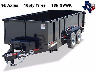 Brand New Texas Pride 7 X 18 Bumper Pull Dump Trailer 18k Gvwr