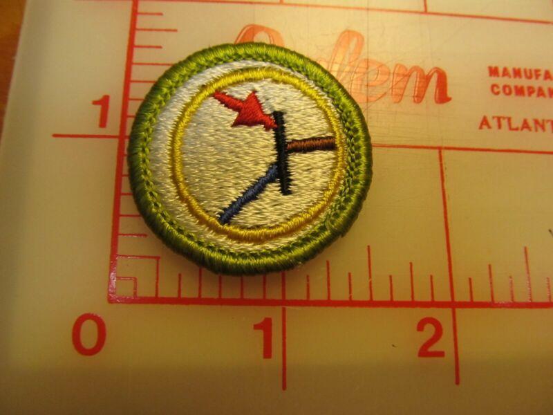 ELECTRONICS merit badge plastic backed patch (oP)