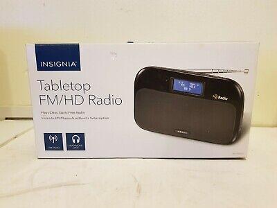 Insignia Tabletop HD Radio Portable FM HD RBDS NS-HDRAD2