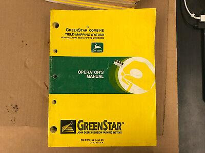 Oem John Deere Operators Manual Greenstar Combine Mapping System C6