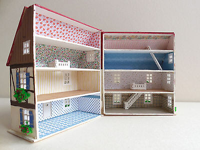 BASTEL SET Tapete Fußoden für Puppenhaus  1/144 zB für unser neues H16095  Haus