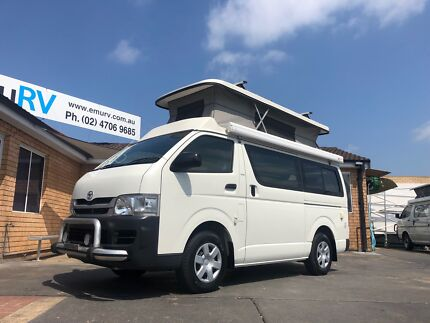 TOYOTA HIACE DOVE CAMPERVAN. Automatic, 5 Seat belts. Penrith Penrith Area Preview