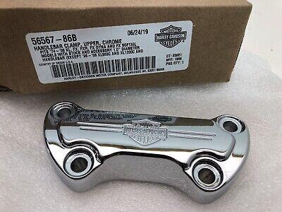OEM Harley-Davidson Bar & Shield Handlebar Top Clamp Chrome 56567-86B