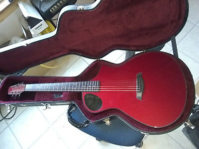Composite Acoustics Xi Carbon Fiber Acoustic-Electric Guitar Red with Case