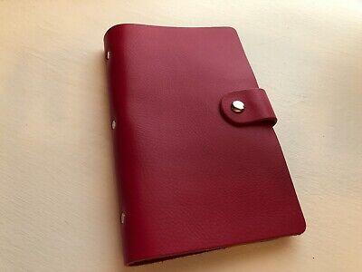 Businesscredit Card Holder Leather Boshino Brand New Hot Pink Snap Closure