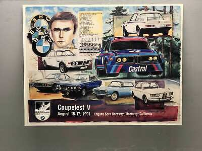 Vintage BMW Racing Car Poster 1991 Coupefest VAug 16-17 BMW Poster