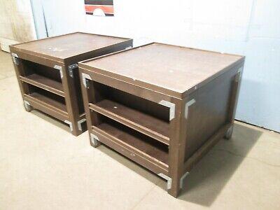 Lot Of 2 Custom Commercial Expresso Wooden Sundrybakeryproduce Display Island