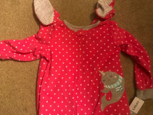 NWT Girls Carter's Footed Sleeper Pajamas Size 5T