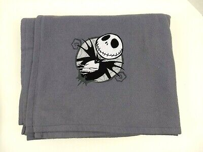 Disney Store Nightmare Before Christmas Jack Skellington Fleece Throw Blanket