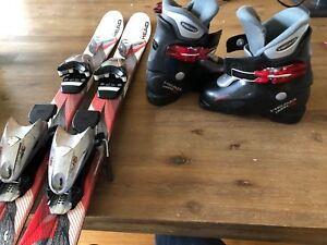 Head junior skis and boots