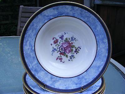 6 x Royal Doulton CENTENNIAL ROSE rimmed soup bowls - unused