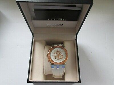 Mulco Womens Titans Swiss Watch Trio Rubber Strap WHITE NEEDS BATTERY BRAND NEW