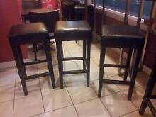 Square timber stools - chocolate colour - New in boxes never used Kogarah Rockdale Area Preview