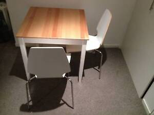 Lovely wooden square table and 2 chairs - ideal for couples St Kilda Port Phillip Preview