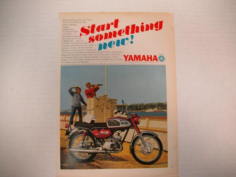 YAMAHA START SOMETHING NEW BONANZA 180 MAGAZINE AD  ORIGINAL