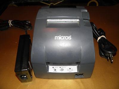 Micros Epson Tm-u220b M188b Pos Dot Matrix Receipt Printer W Micros Idn