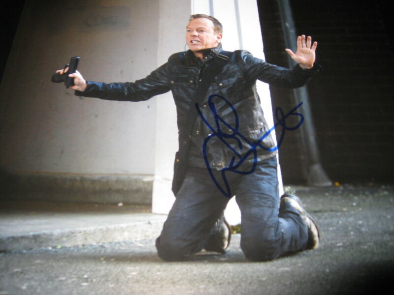 KIEFER SUTHERLAND SIGNED AUTOGRAPH 8x10 PHOTO 24 PROMO LIVE ANOTHER DAY COA F