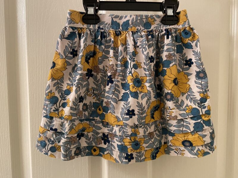 Janie and Jack Skirt Fall Flowers Corduroy Floral Girls Size 3T