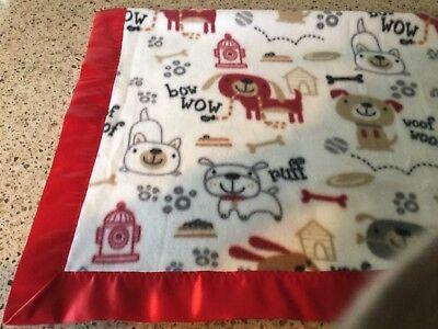 Handmade fleece pet blanket, cute dogs, bones, hydrants!