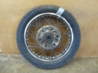 1975 Yamaha XS500 Y377-1. rear wheel rim 18in w/ sprocket