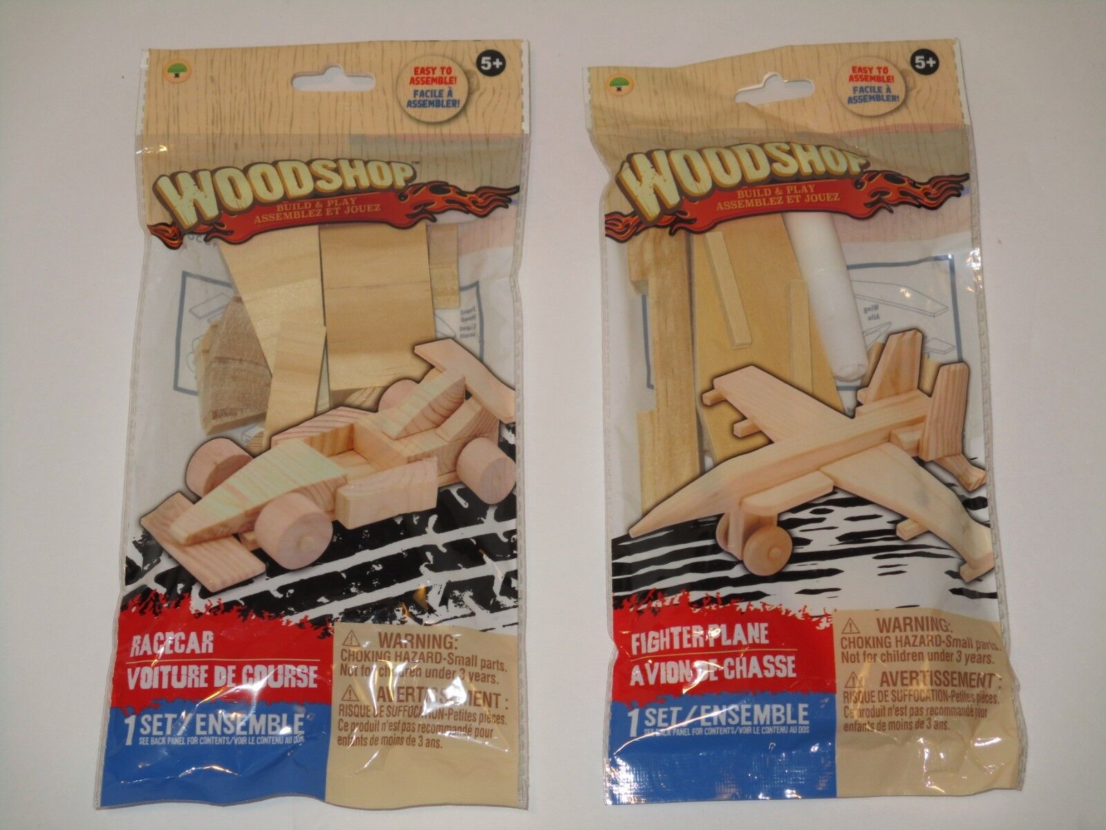 Wood Model Kits - Build Real Wooden Airplane & Race Car LOT