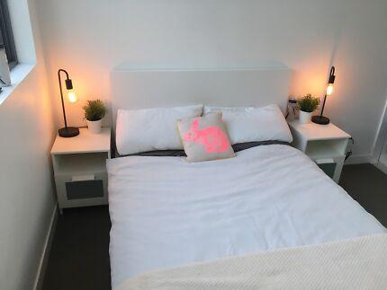 MALM double bed (IKEA)