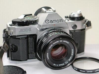Canon AE-1 Program Camera , New light seals, Cap, strap. No shutter Squeal. Exc.