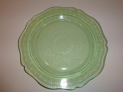 Vintage Federal Patrician Spoke Green Depression Glass Dinner Plate