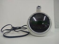 Coby Alarm clock AM FM radio w/ projection CR-A78 round white radio alarm clock