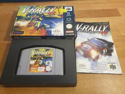 V-Rally Edition '99 Nintendo 64 N64 PAL OVP CIB Boxed