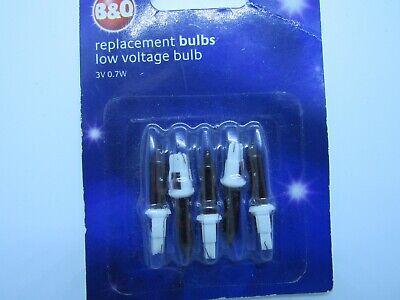 B and Q Xmas bulbs  3v 0.7w RED ( no notch ) ()
