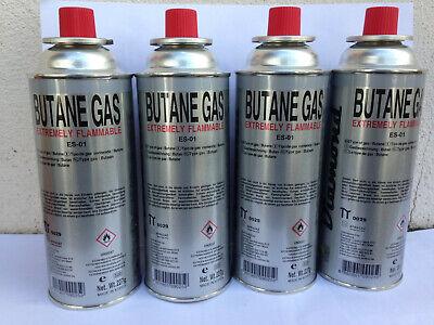 4x Cartucho de Gas 227g Butano Bombonas Mechero Bunsen Estufa Camping Cocina