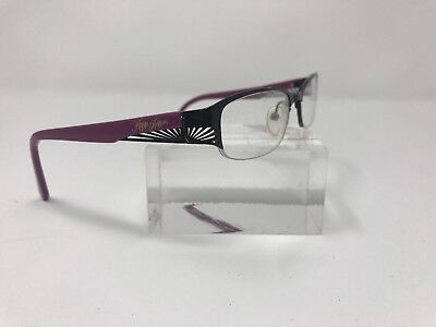 Apple Bottom Eyeglasses Frames AB 703-2 50/17 130 Purple Black (Apple Bottom Eyeglasses)