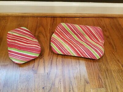 Vintage 1977 Barbie Dream House Furniture Striped Green Couch & Chair