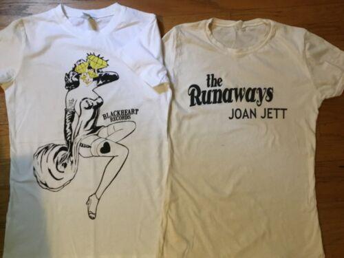 JOAN JETT Blackheart Records & THE RUNAWAYS Women's T-shirts MEDIUM