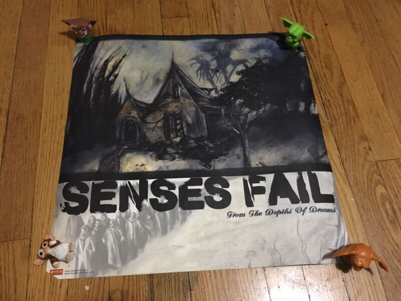 SENSES FAIL Rare 2002 DOUBLE SIDED PROMO POSTER 4 From CD 18x18 Drive Thru