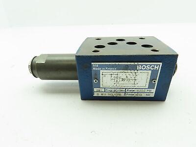Bosch Rexroth 0 811 145 176 Hydraulic Pressure Relief Sandwich Valve 4500 Psi