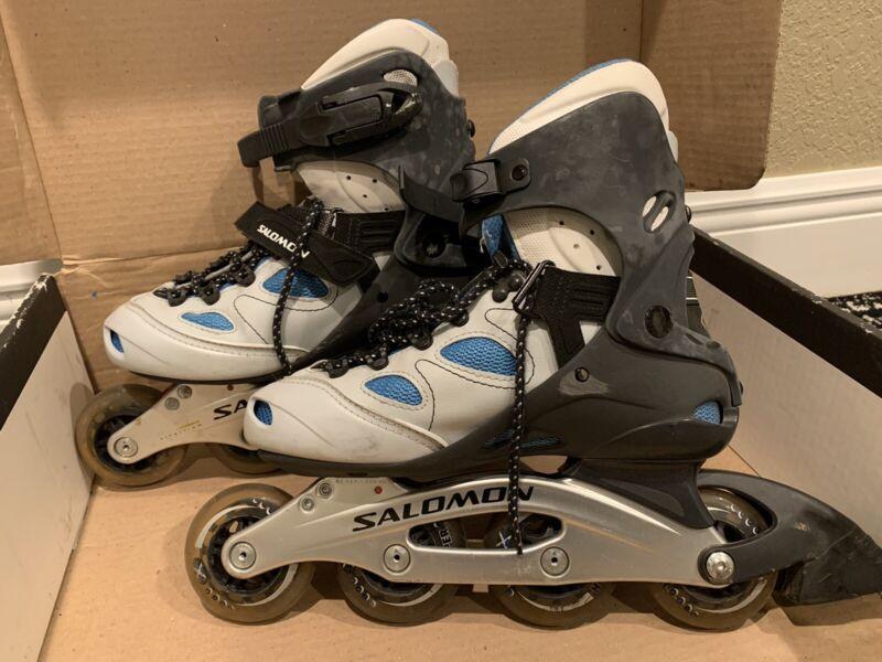 Salomon TR 8 Energyzer Extended Titallium Rollerblades Inline Skates  Womens 7.5