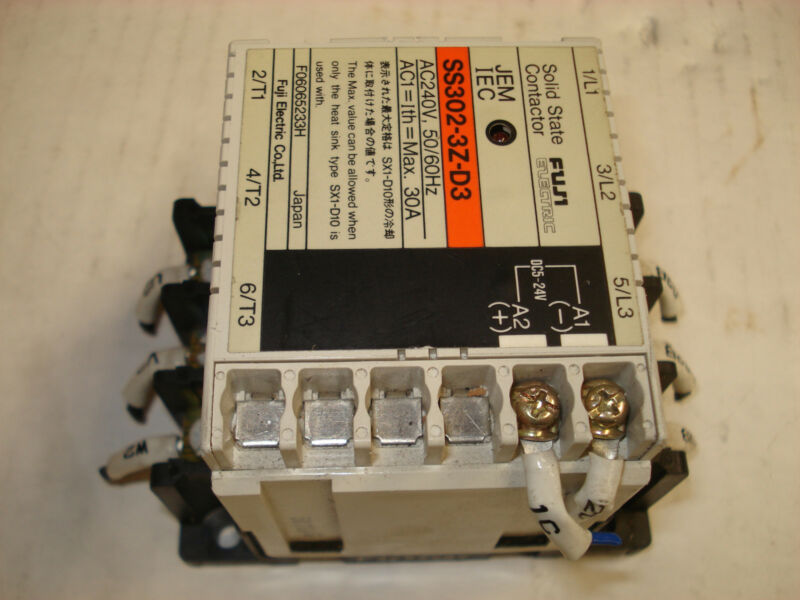 Fuji Electric SS302-3Z-D3 SOLID STATE CONTACTOR (Tested)