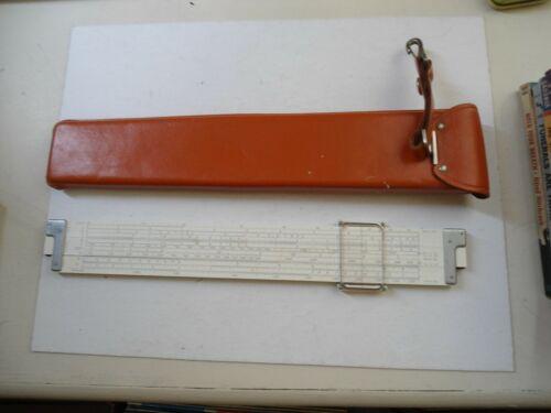 K&E Log Log Duplex Decitrig Slide Rule With Case 681210 1947