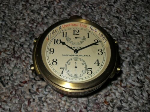 Hamilton Model 22. Chronometer Watch in Shipping Container & Mounting Box, L@@K