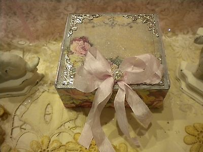 Shabby Chic Square Decorative Box Vintage Paris Roses