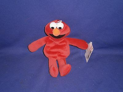 Vintage Sesame Street Elmo Plush Bean bag Toy by Applause 7 inch 1997 (Elmo Bean Bag)