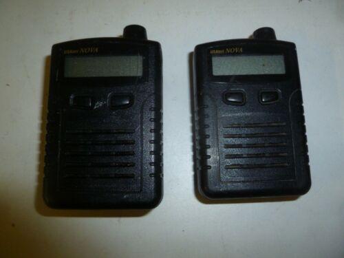 Lot of TWO US Alert NOVA VHF Fire EMS Pagers ga384e