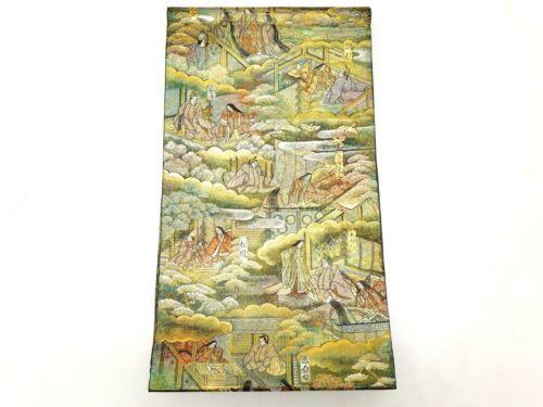 USED Japanese Kimono Fukuro OBI Silk #270-003-519-9158