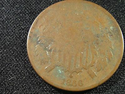 1866 CLEAR 4 FIGURE DATE 2 CENT PIECE TUFF IN ANY GRADE